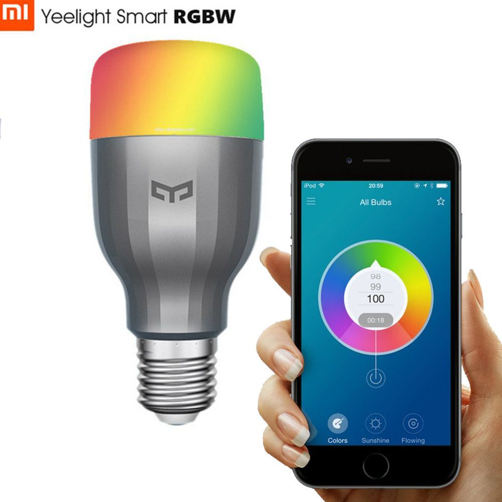 Xiaomi Mi Yeelight 9w Rgb E27 Led Bombilla Inteligente Multi Color Rgb Wifi Bombillas Led Wifi