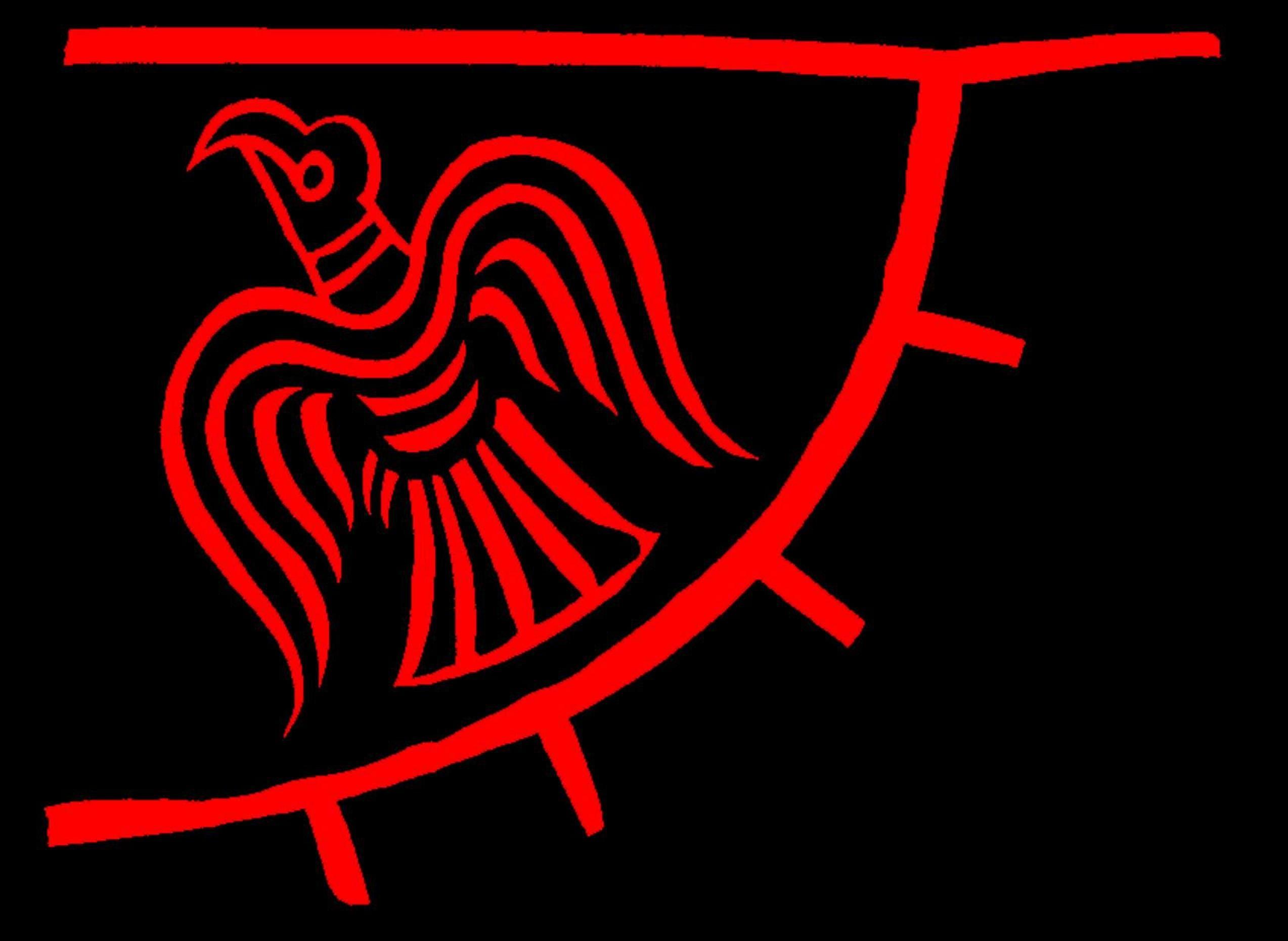 Viking Raven Flag Vikings Banner Pennant 31x36 inch Norse Pirate Ship