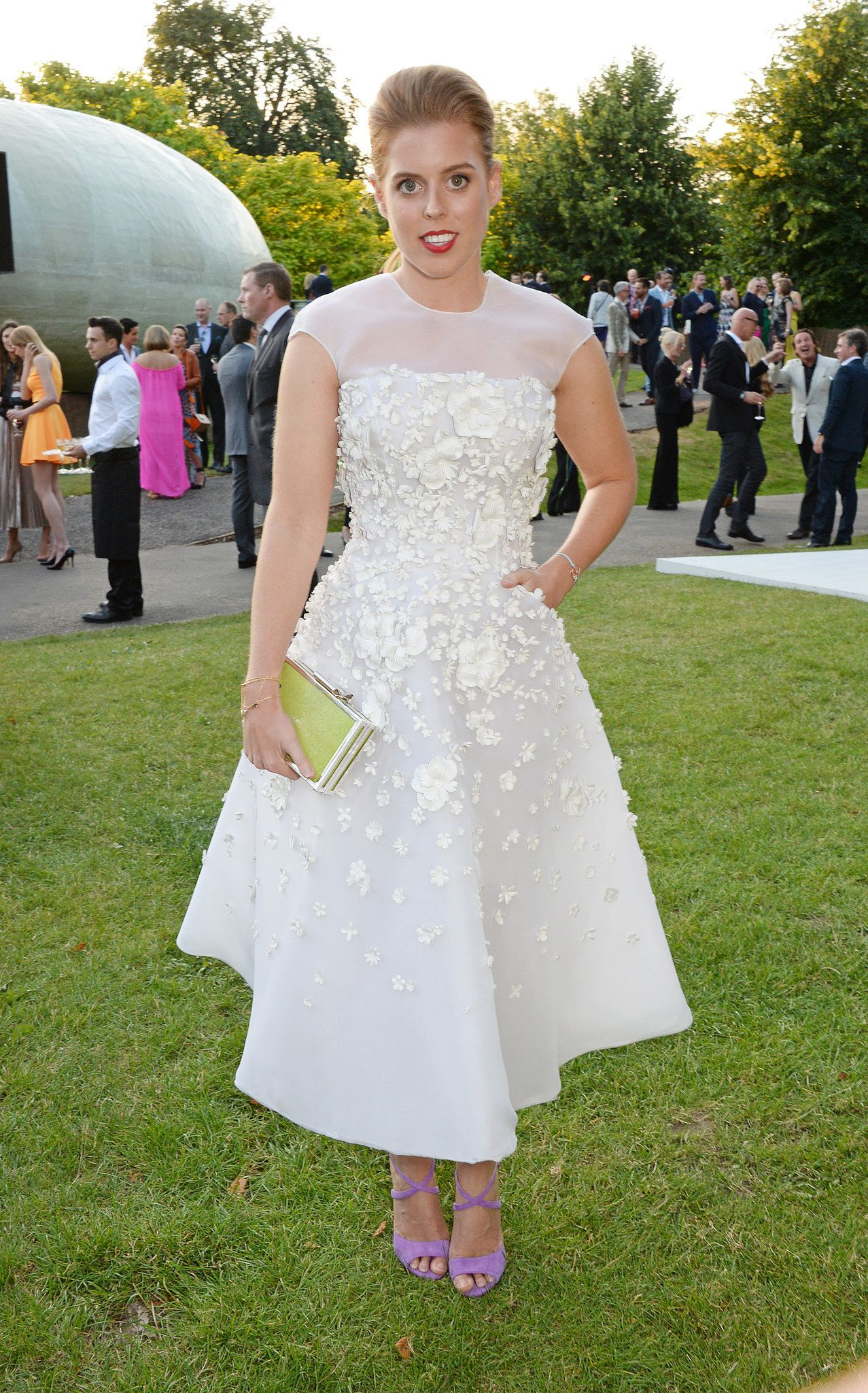 Princess Beatrice of York wearing our Leather Flower Prom