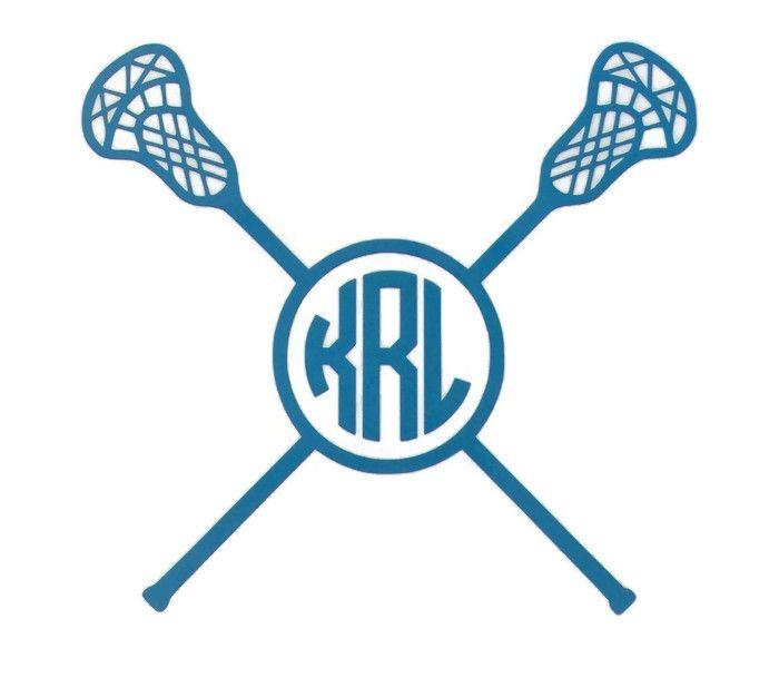 Lacrosse Monogram Vinyl Decal