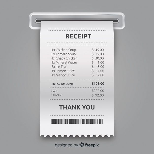 Receipt Template Collection With Realistic Design Receipt Template Invoice Design Template Packaging Ideas Business