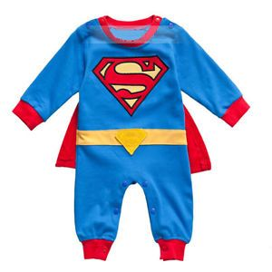 740347a6ec Superman Baby Kid Toddler Onesie Bodysuit Romper Jumpsuit Outfit Cloth  One-Piece