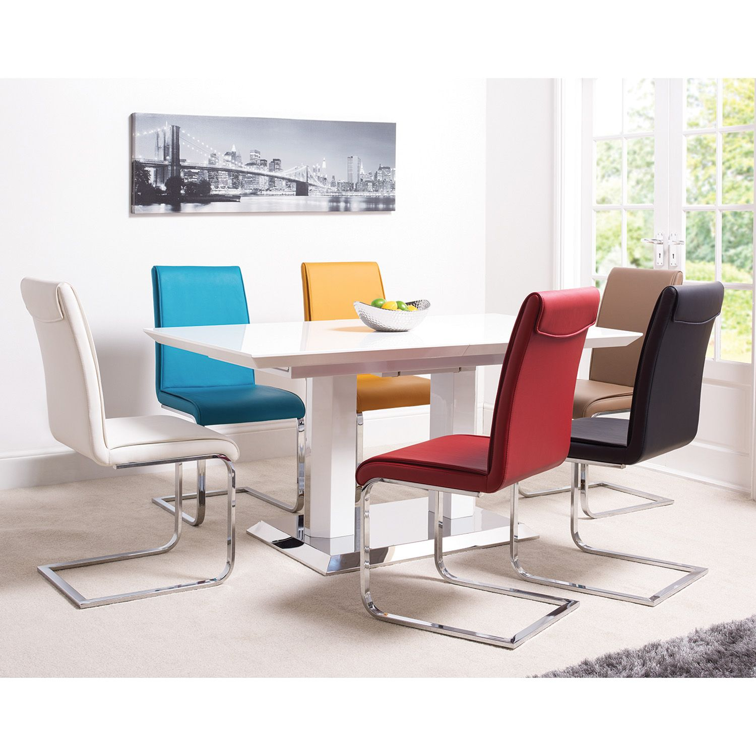 Roma White Gloss Dining Table New House ideas