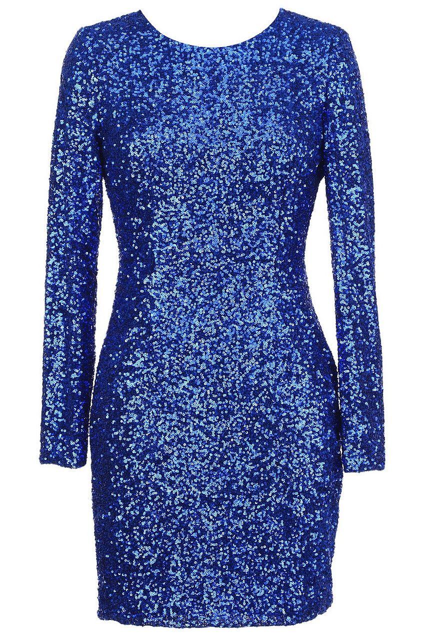 Back hollow blue sequin dress my style pinterest blue sequin
