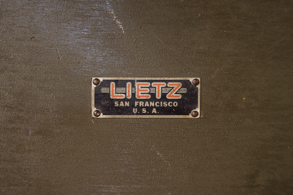 Vintage Lietz Draftsman's Table Label