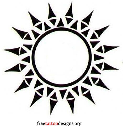 193cd9bfe9e12 65 Sun Tattoos | Tribal Sun Tattoo Designs | Tattoo inspiration ...