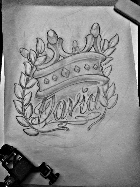King David Sketch By Michaelbrito On Deviantart David Tattoo Tattoos Tattoo Lettering Styles