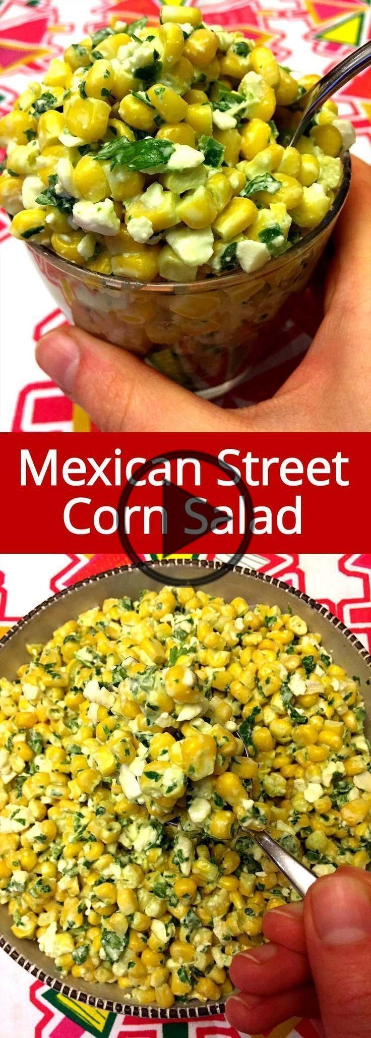 Mexican Street Corn Salad This Mexican street corn salad recipe is amazing! So refreshing and... #mexicanstreetcorn
