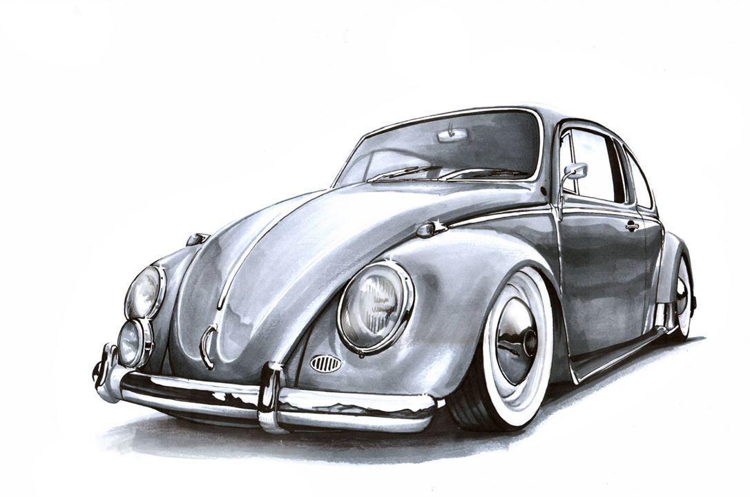 Kowalewska Org Kowalewskaorg In 2020 Vw Art Car Drawings Volkswagen Beetle