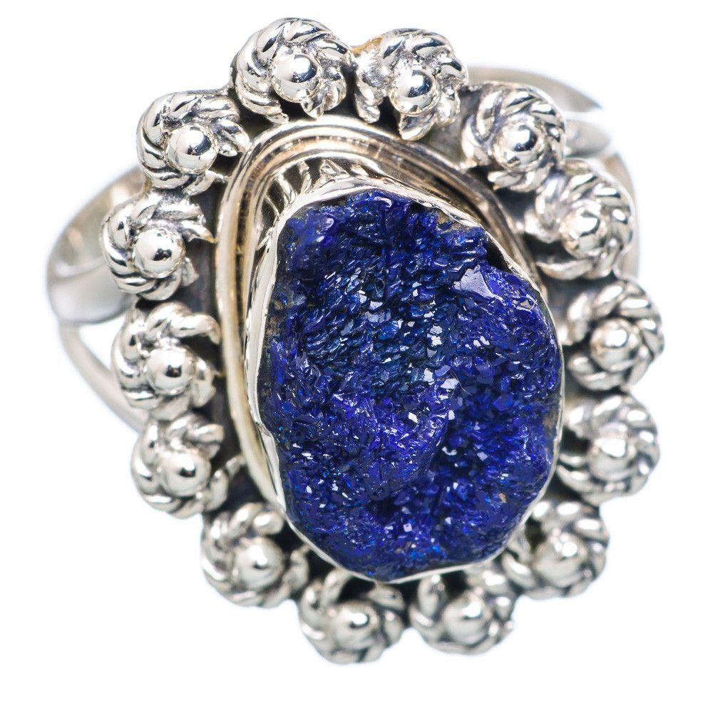 Rough Lapis Lazuli 925 Sterling Silver Ring Size 7.25 RING704199
