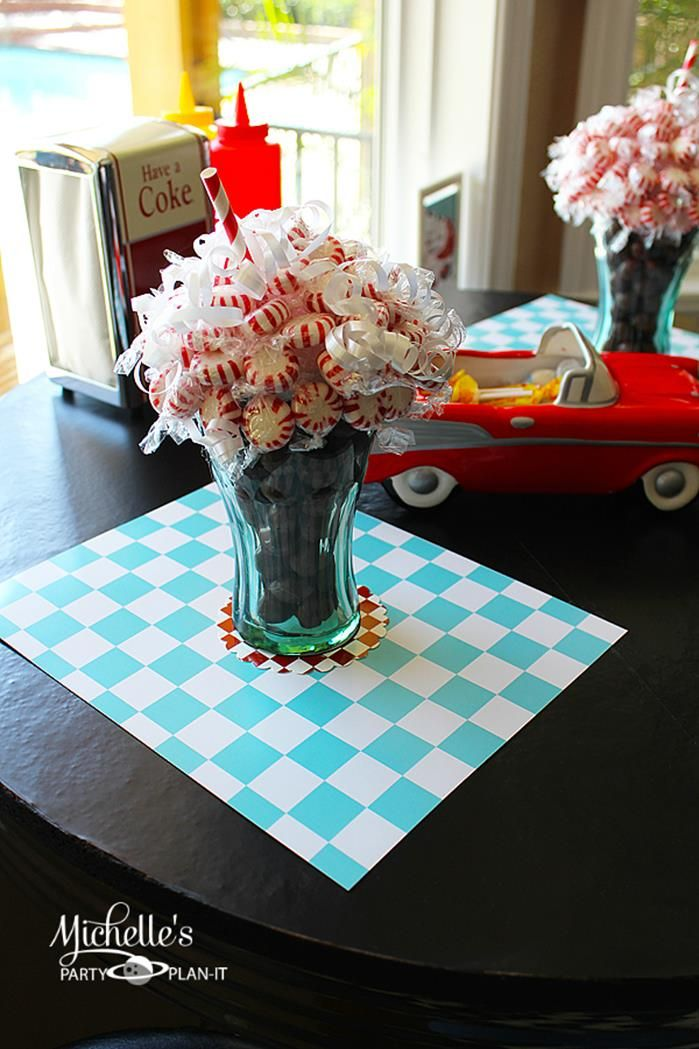 1950's Diner Party via Kara's Party Ideas #1950s #diner #FathersDay #retro #party #idea #decorations (13)
