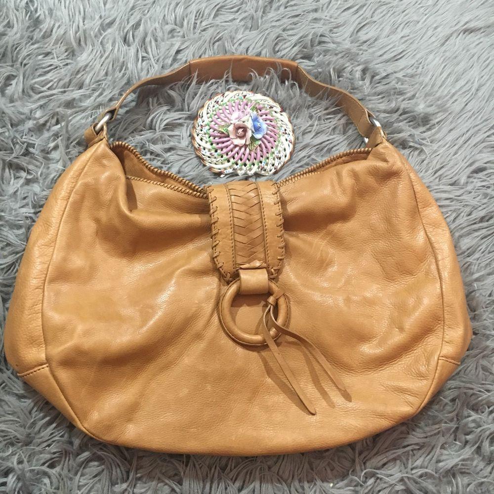 Banana Republic Buttery Soft Brown Leather Hobo Bag Magnetic Shoulder Bag f04af5c249ee4