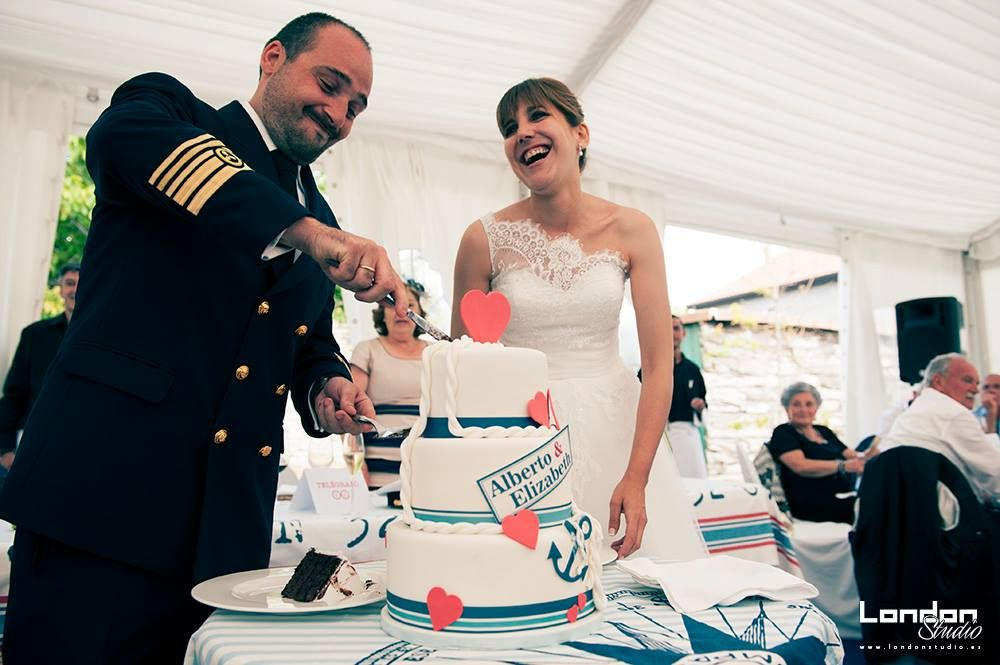 Tarta boda, fondant, náutica, pisos