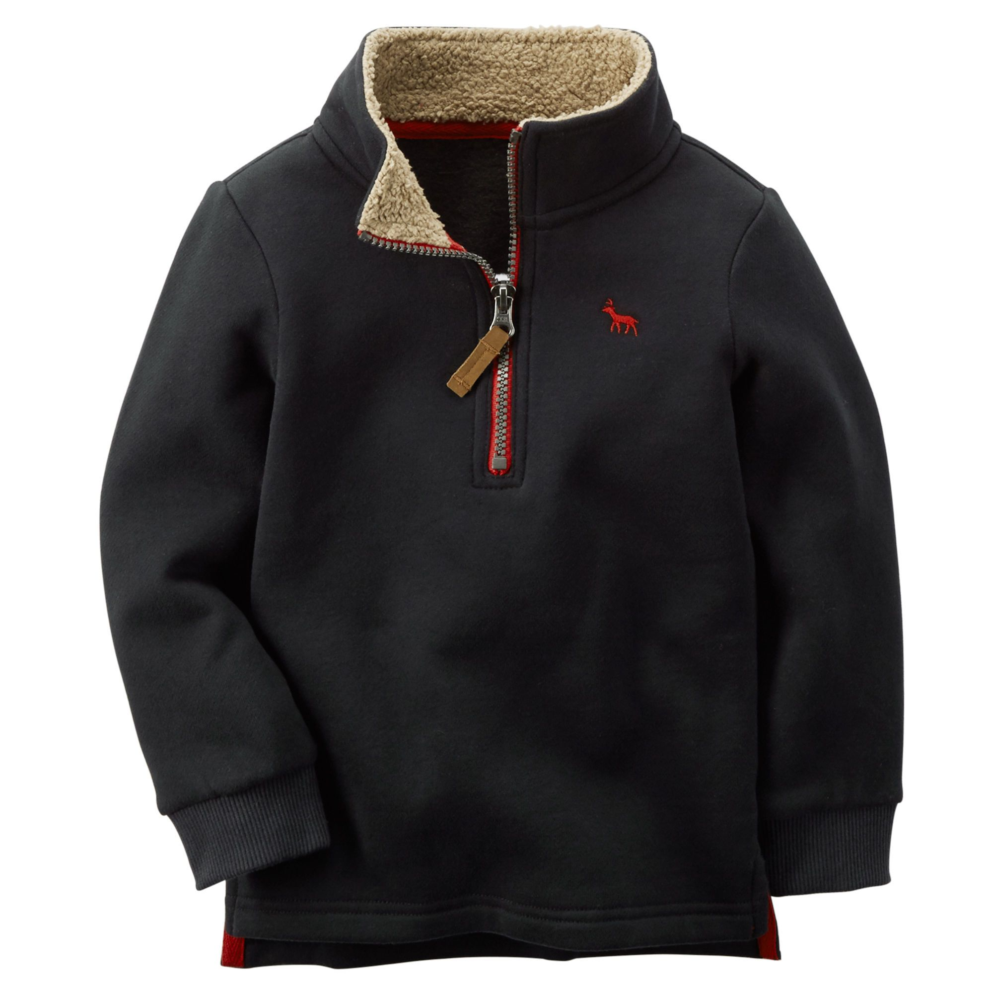 Sueded Fleece Pullover