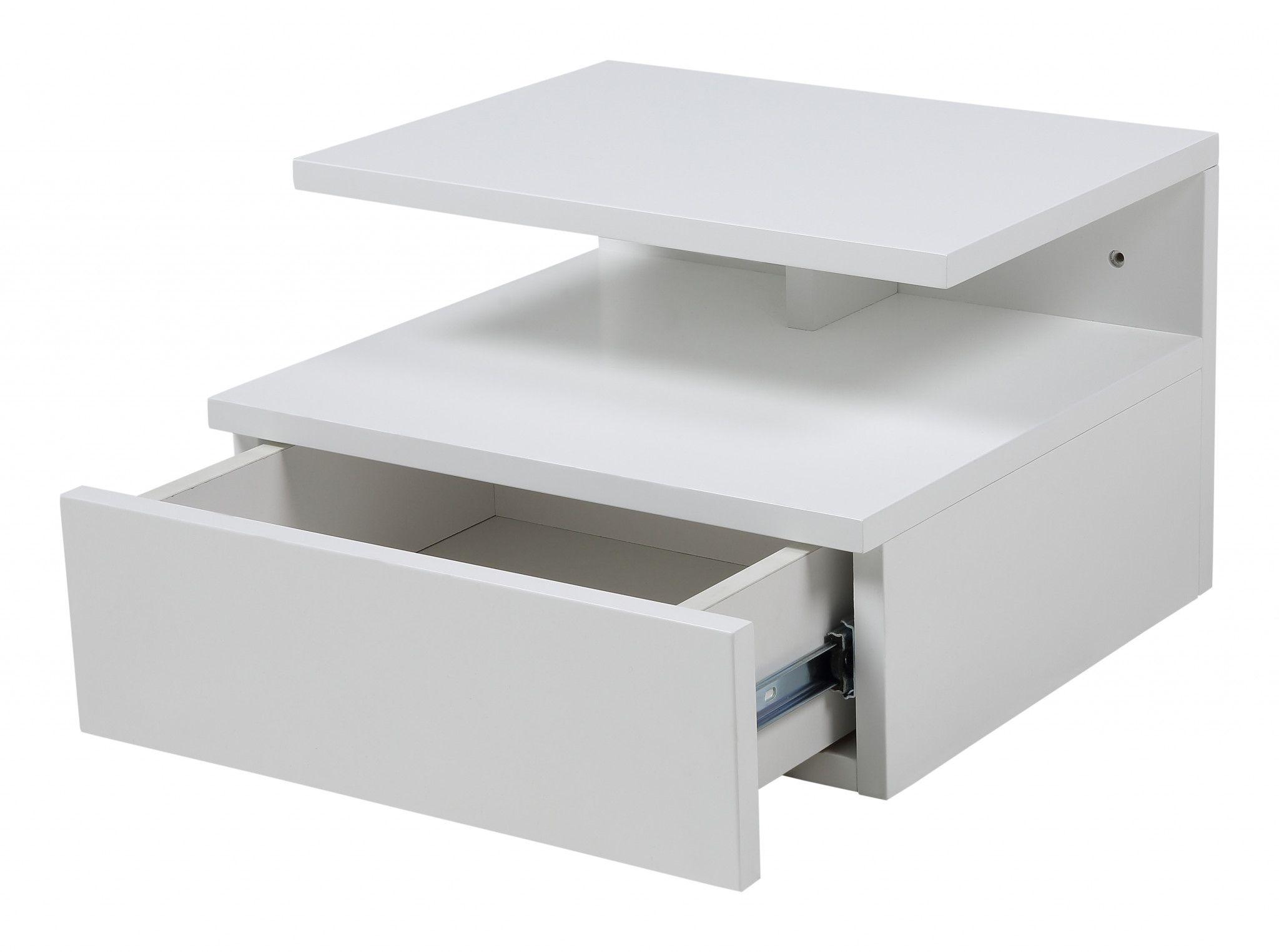 10x Nachtkastje Slaapkamer : Zwevend nachtkastje mat wit slaapkamer nachtkastje