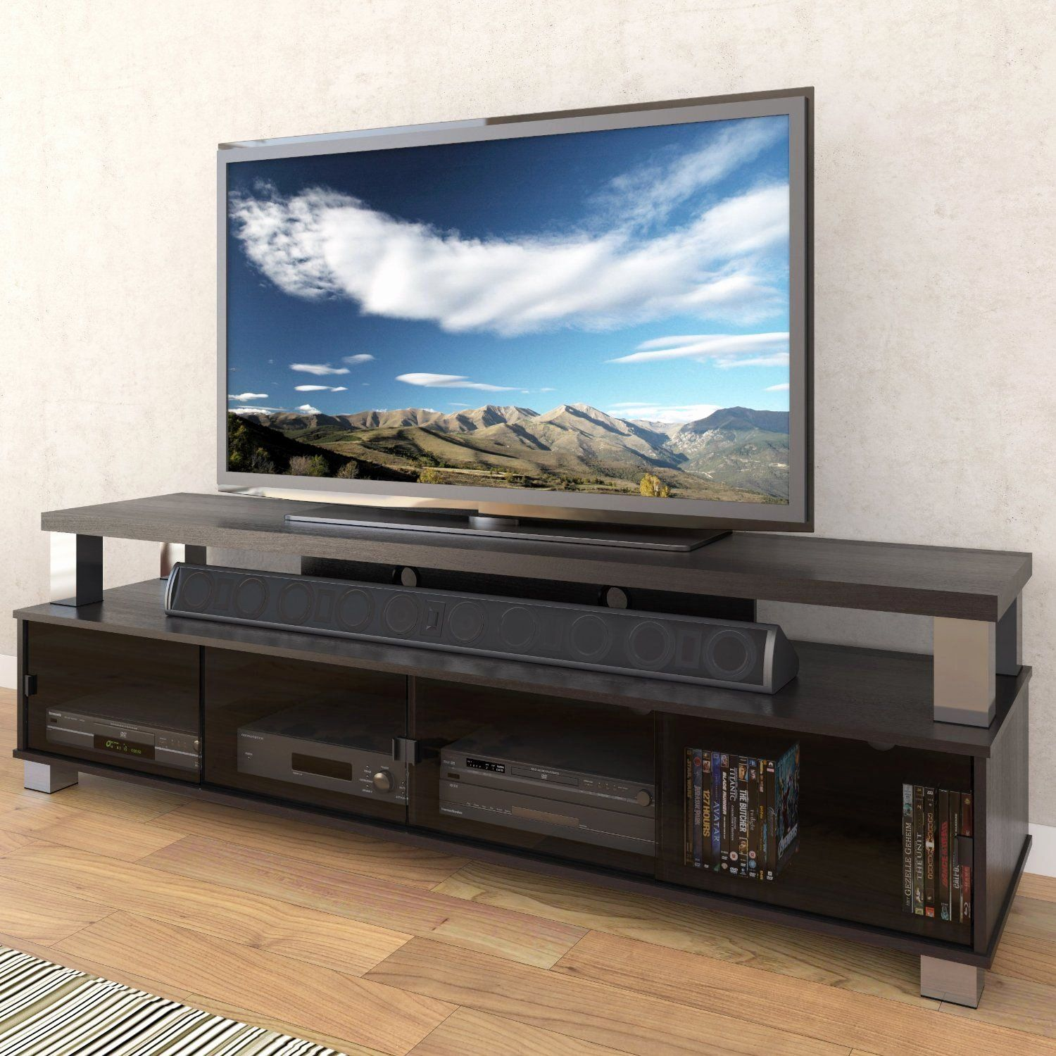 75 Inch Tv Stand Beautiful Awesome Contemporary Entertainment Centers For Flat Screen Tv Stand Designs Tv Stand Black Wood Flat Screen Tv Stand