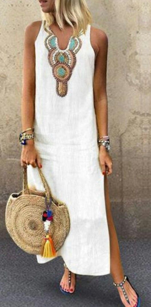 Yazlik beyaz elbise