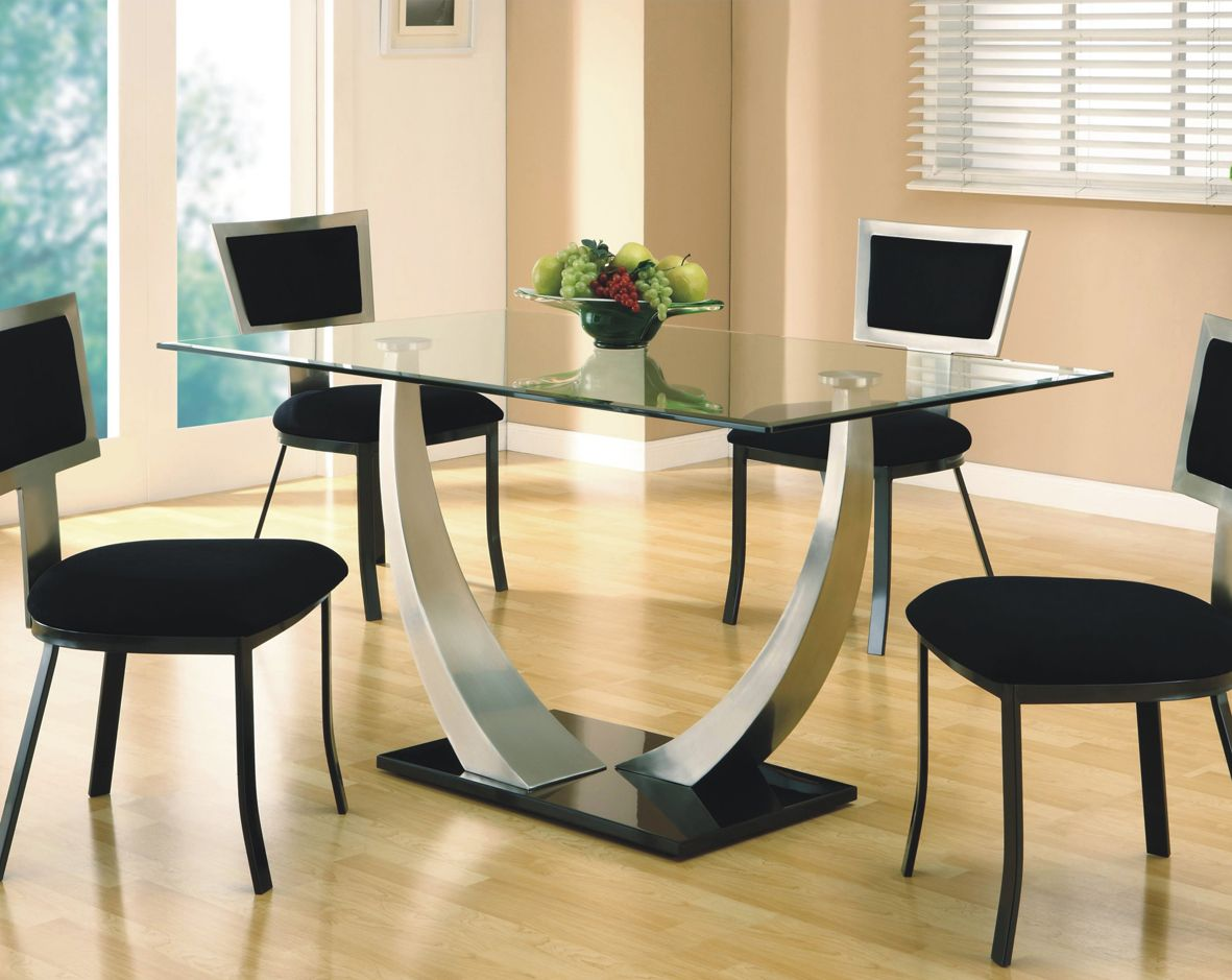 Portrayal Of All Glass Dining Table Luxurious Set For Perfect Dinner