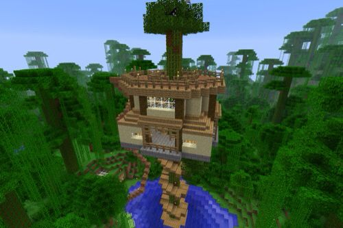 Minecraft Treehouse Minecraft Blueprints Minecraft Creations