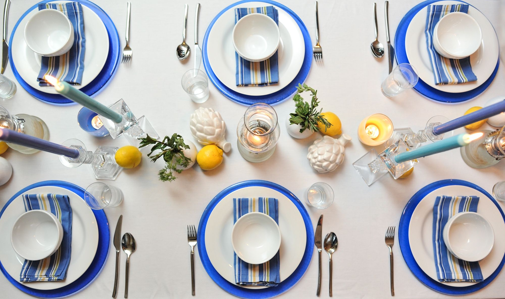 Greek Table setting  sc 1 st  Pinterest & Greek Table setting | Play | Pinterest | Greek Blue tablecloth and ...