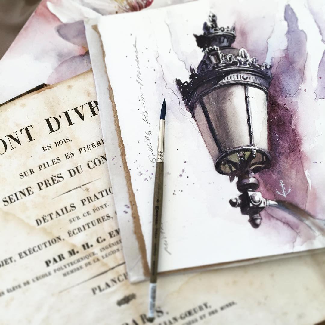 First plein air drawing in new sketchbook from aix en - Piscine plein air aix en provence ...