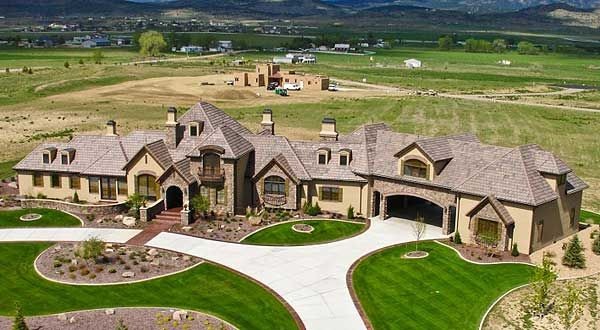 Plan 9544rw palatial french country house mansion and Amazing one story homes