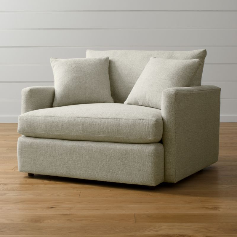 Lounge ii beige chair and a half reviews crate and