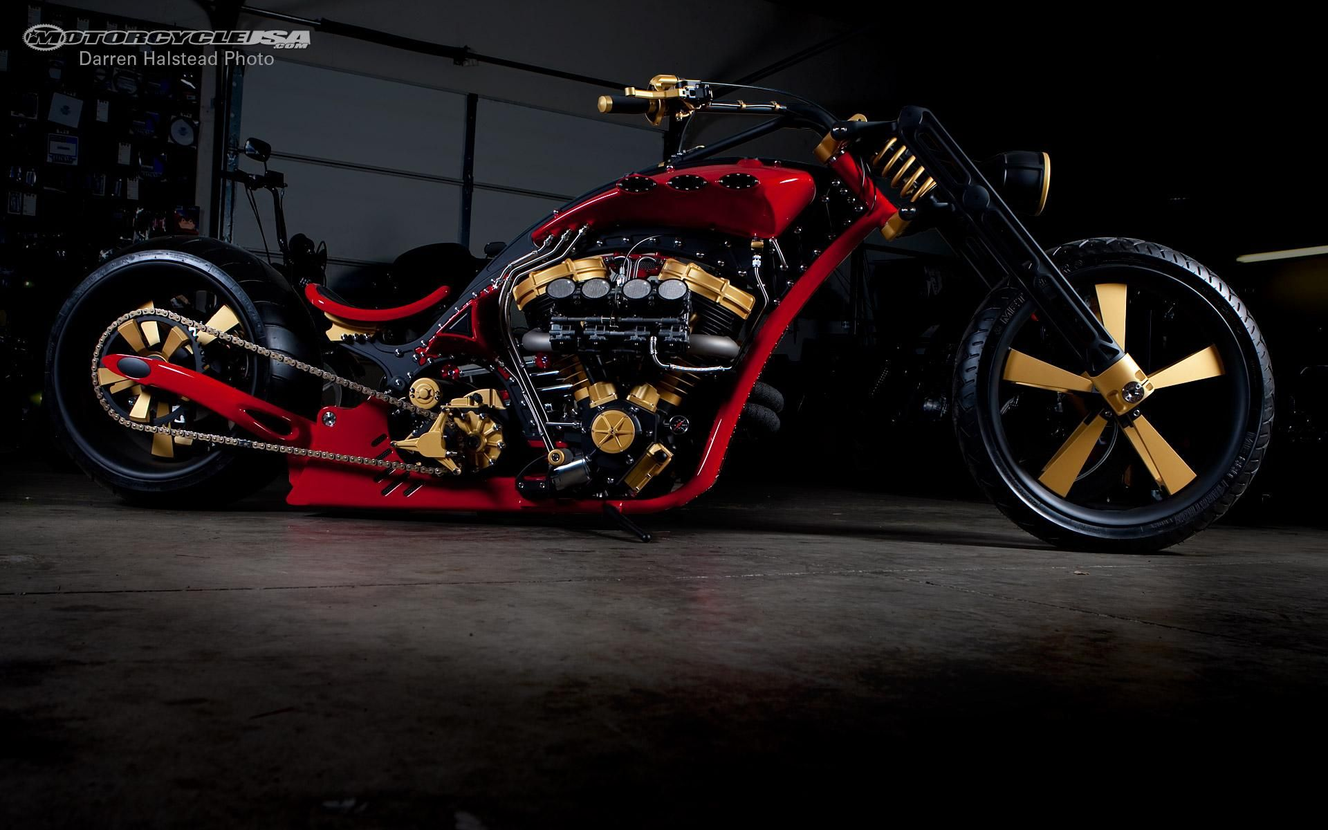 Custom Motorcycle Wallpaper Harley Davidson Bike Chopper