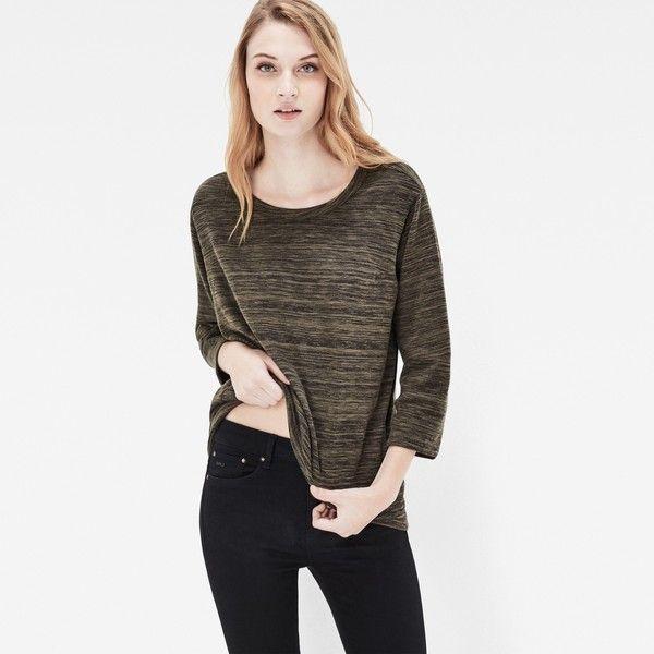 G-Star Raw Tigoni Loose T-Shirt ($55) ❤ liked on Polyvore featuring tops, t-shirts, asfalt, white t shirt, curved hem t shirt, white tee, short t shirt and denim crop top