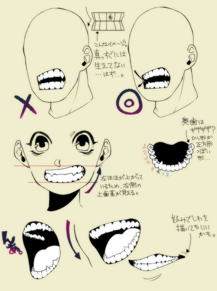 Teeth Reference Drawing Tutorial Art Reference Drawings