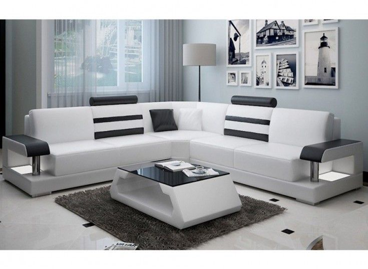 Tessie Leather Lounge Offers A Modern Classic Design With Its Contrasting Leather Co Corner Sofa Design Living Room Sofa Design Modern Furniture Living Room