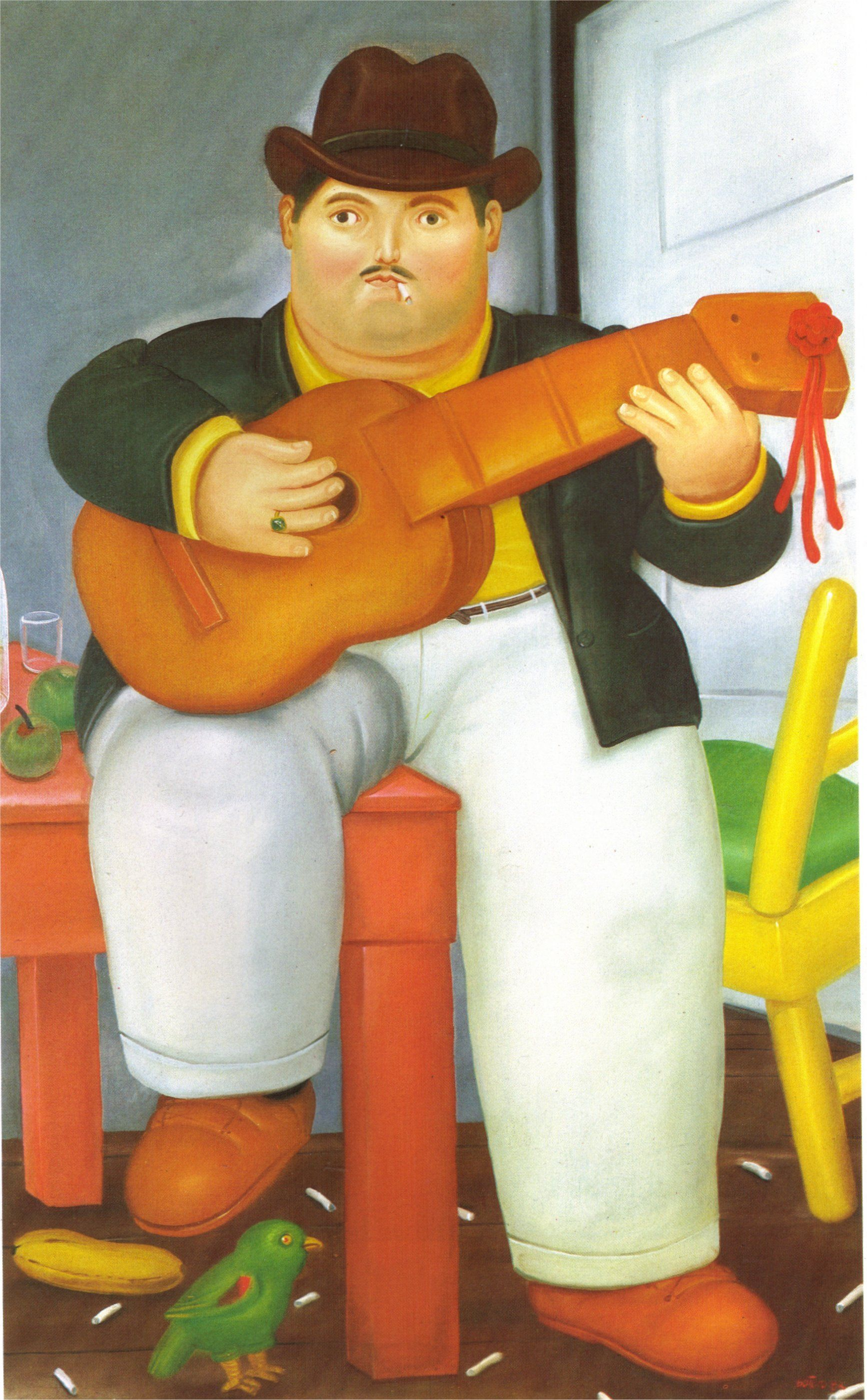 Man With A Guitar Fernando Botero Fernando Botero Figurative Artists Art