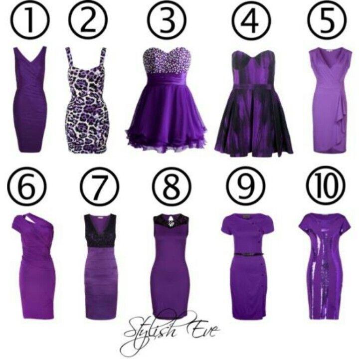 Purple dresses, i like number 3 the best