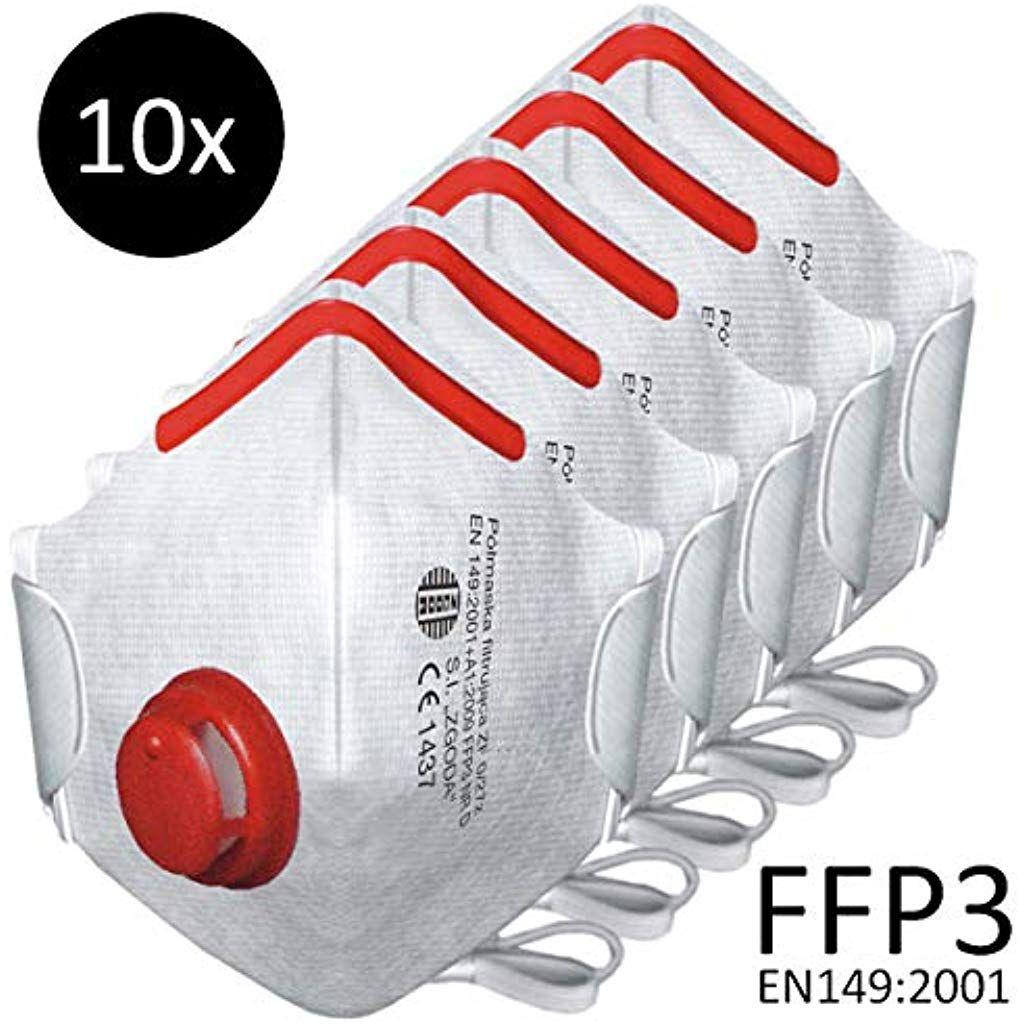 Berlin Optix Ffp3 Atemschutzmaske 10 Stuck Schutzmaske Wirksamer