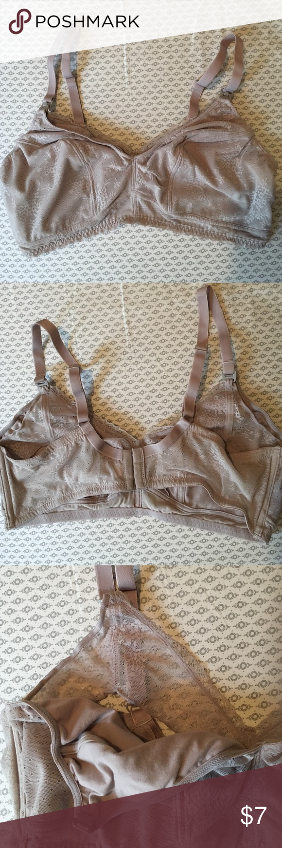 Gilligan&OMalley grey lace nursing bra SZ xl Beautiful grey lace nursing bra. Soft cotton, no wire, super comfortable and pretty lace design! Clip down for easy nursing. Size xl. This is a reposh because I bought the wrong size! I have one just like this in another size and it's my favorite! I'm a b cup normally and c cup now for size reference Gilligan & O'Malley Intimates & Sleepwear Bras