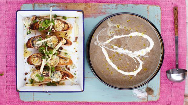 Champignonsuppe Mit Crostini Das Rezept Von Jamie Oliver Rezept
