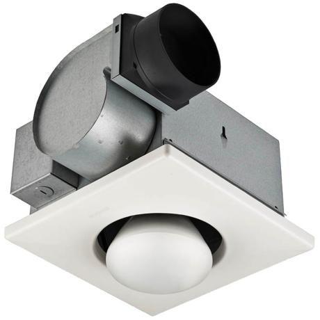 Nutone 70 Cfm One Bulb Heat A Vent Bathroom Exhaust Fan 43326 Lamps Plus Bath Fan Ceiling Exhaust Fan Bathroom Fan