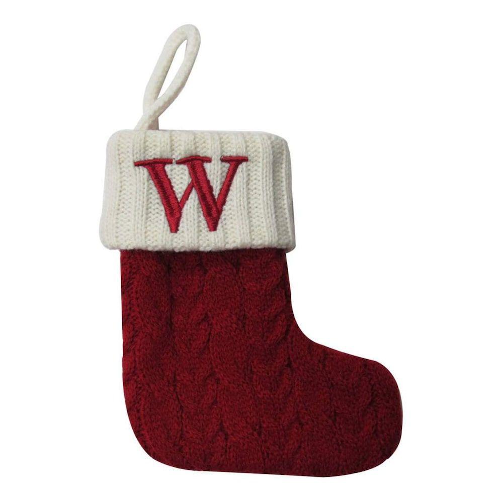 St. Nicholas Square® 8-in. Knit Monogram Christmas Stocking ...