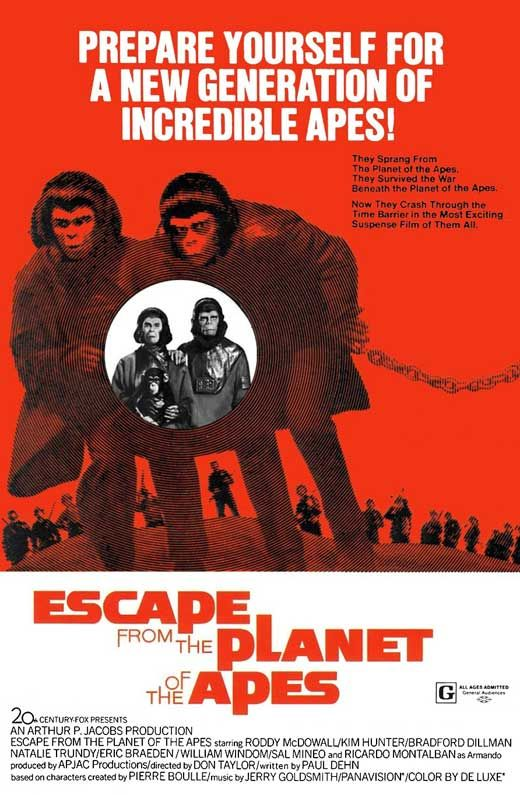 Escape From The Planet Of The Apes Movie Posters From Movie Poster Shop Planet Of The Apes Old Movie Posters Cinema Posters