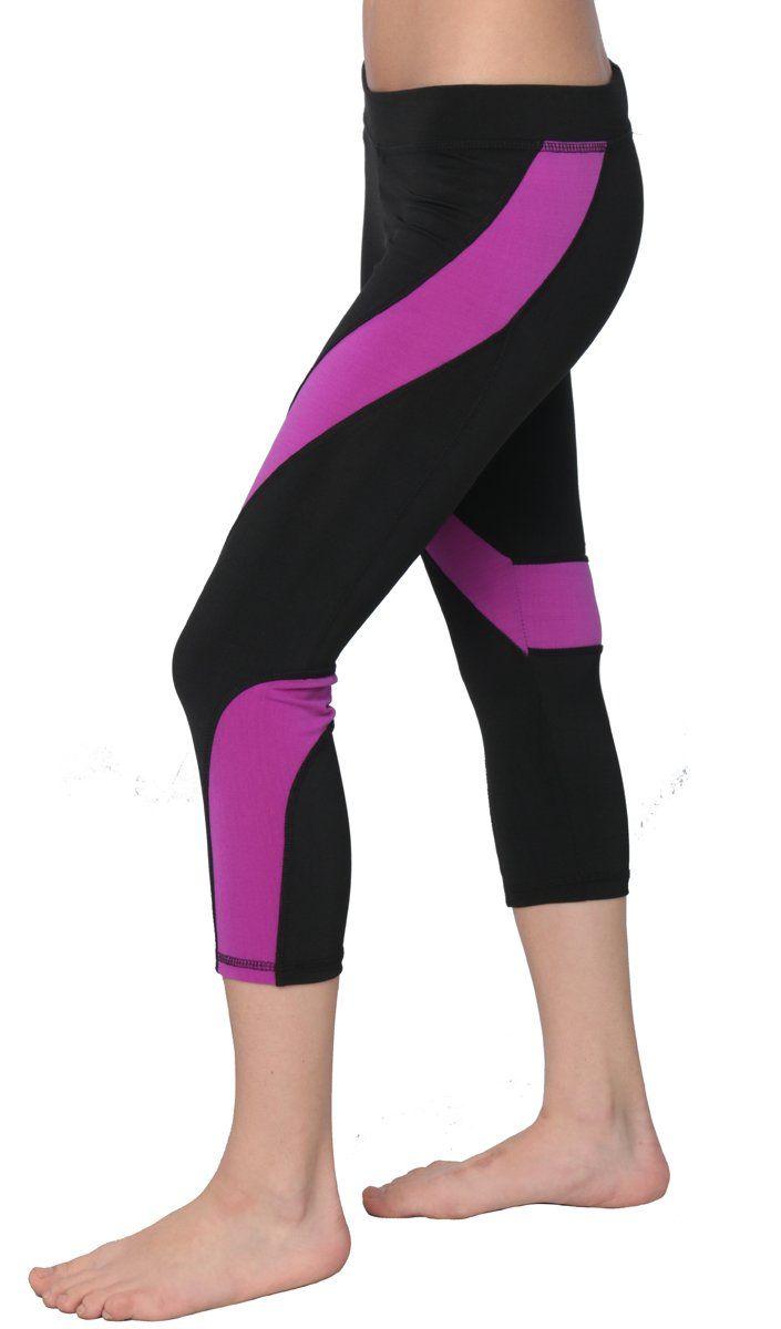 84e9349b09edb Designed For You Women's Neon Performance Active Black Capri Leggings Or  Set at Amazon Women's Clothing store: