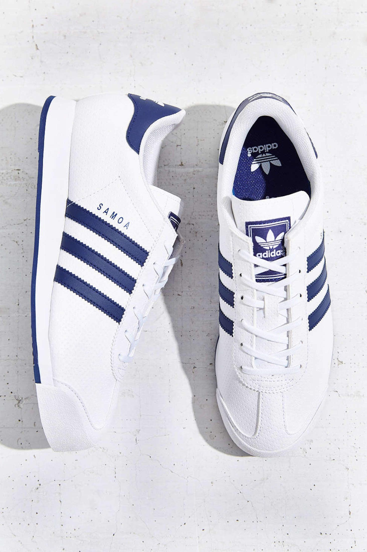 buy popular c5e2e 46b38 adidas Originals Samoa Blue Stripe Sneaker - Urban Outfitters