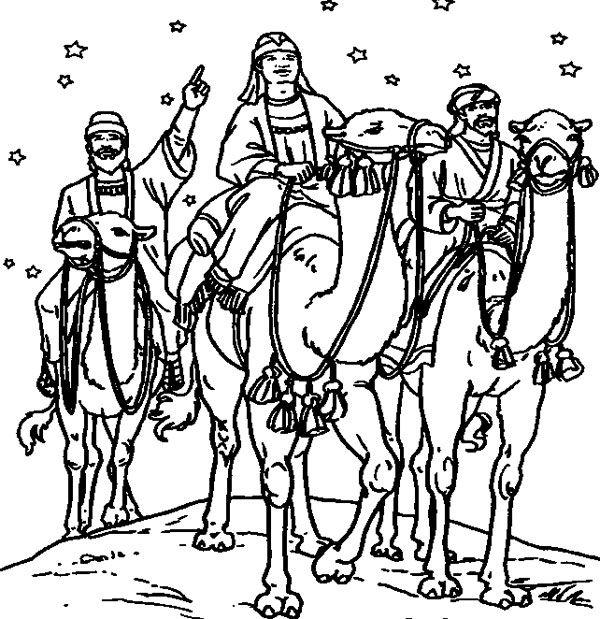 10 Dibujos De Los Reyes Magos Para Colorear Gratis Pequeocio Paginas Para Colorear De Biblia Dibujos De Navidad Dibujo De Navidad