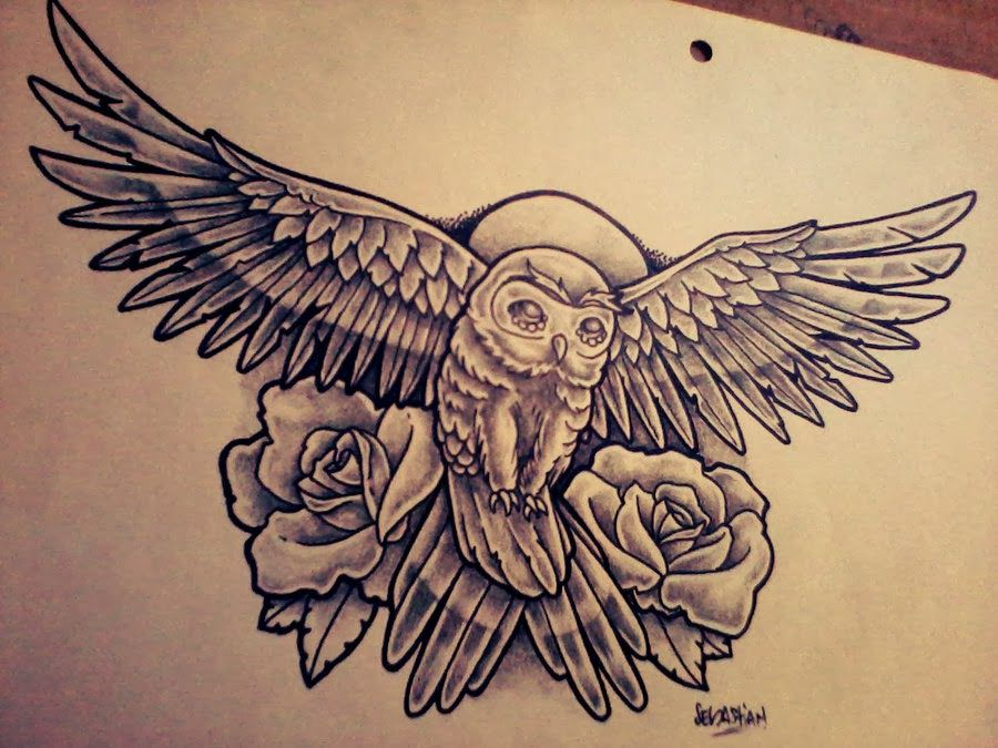 FANTÁSTICO MUNDO DA PRI : Desenhos de Corujas - Tatuagens de Coruja - Owl Tattoo