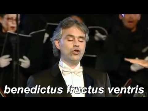 Andrea Bocelli Ave Maria Schubert Lyrics Traduzione Youtube
