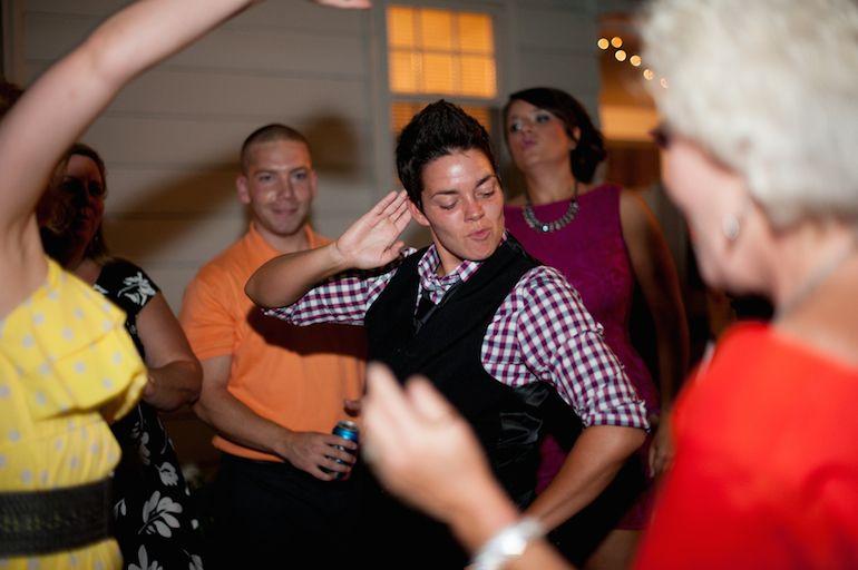 Ashley and Amanda had a quaint #backyard #wedding in #Ohio! Photos by Kristen Weaver Photography | http://www.kristenweaver.com/. Read more on EquallyWed.com! #lesbian #LGBT #wedding #DIY