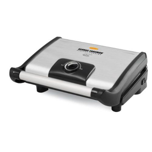 Sale George Foreman Gr0080s Stainless Steel 80 Square Inch Vari Temp Grill With Variable Temperature Control George Foreman Temperature Control Grilling