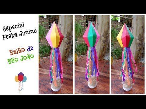 Festa Junina Centro De Mesa Balao De Sao Joao De 4 Cores