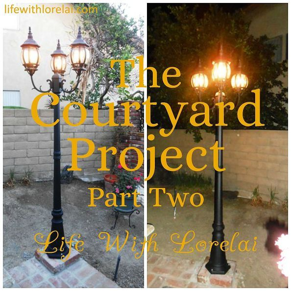 courtyard project diy makeover part two, diy, gardening, home improvement, outdoor living