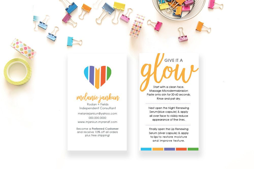 Rodan and fields mini facial card rd business card digital file rodan and fields mini facial card rd by jankuncreativestudio reheart Gallery