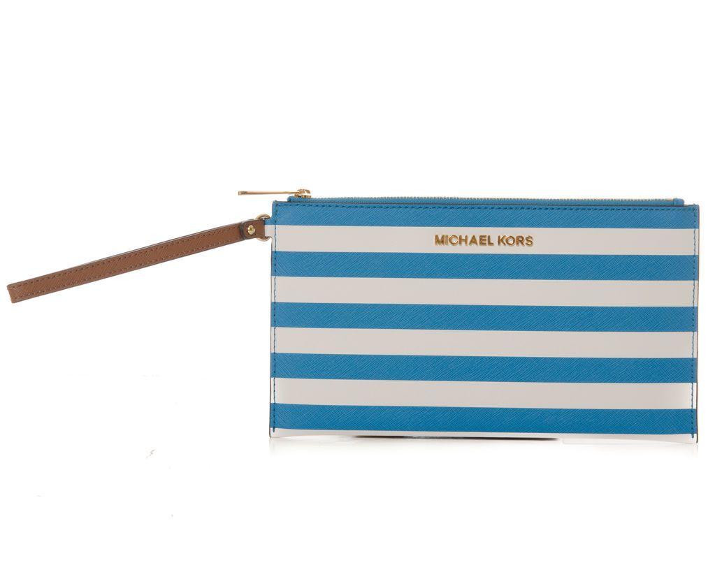 Clutch Jet Set Travel Stripe , Michael Kors - Mi and Mall